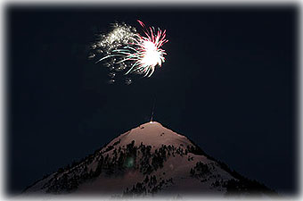 Fireworks over Deer Mountain