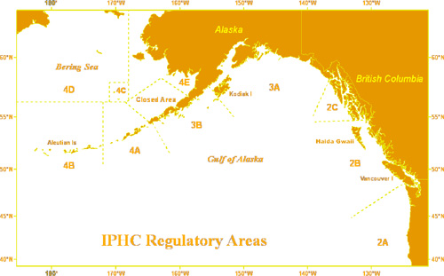 IPHC Regulatory Areas