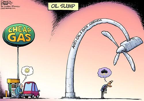 jgp POLITICAL CARTOON: CHEAP GAS