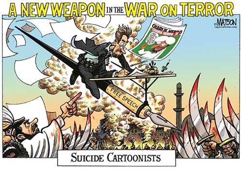 jpg POLITICAL CARTOON: SUICIDE CARTOONISTS, A New Weapon in the War on Terror