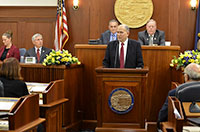 GOVERNOR DELIVERS STATE OF THE STATE
