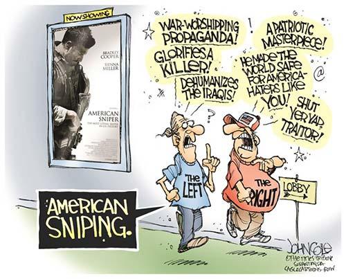 jpg POLITICAL CARTOON: AMERICAN SNIPERS