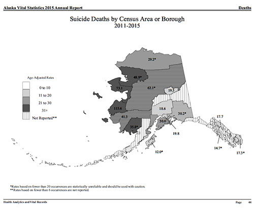 jpg Alaska Suicide Deaths by Area