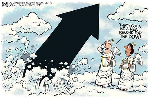 jpg Political Cartoon: Dow Record