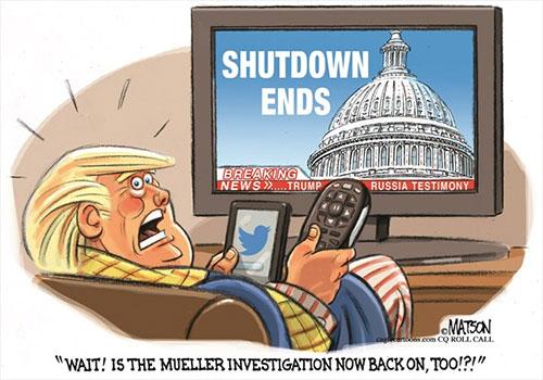 jpg Political Cartoon: Trump Worries As Government Shutdown Ends