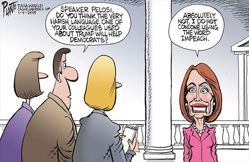 jpg Political Cartoon: Pelosi on harsh language