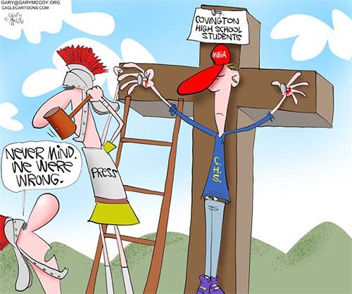 jpg Political Cartoon: Media Crucifies ProLifers