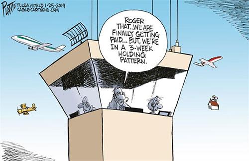 jpg Political Cartoon: Air traffic controller