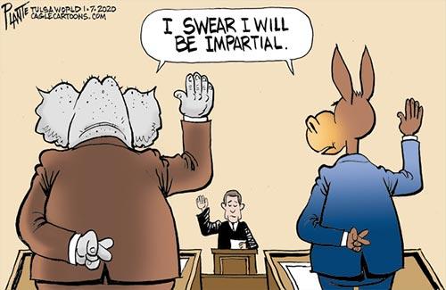 jpg Political Cartoon: The Senate Oath