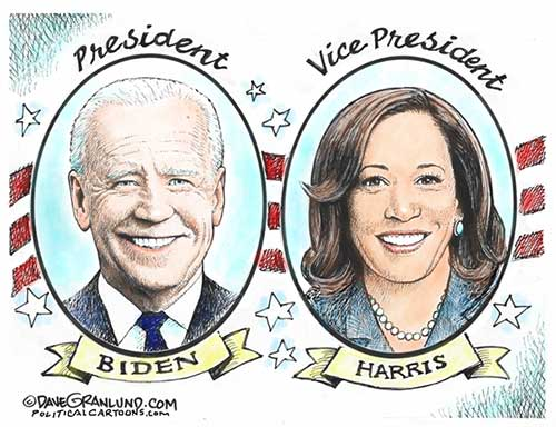 jpg Political Cartoon: Biden Harris Inauguration 2021