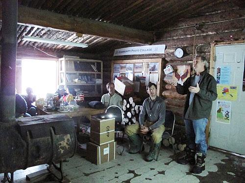 jpg NASA's Tripp Ransone speaks with Venetie residents in the Village Council office.