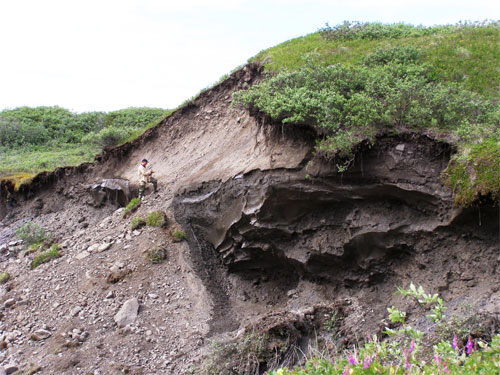 jpg landslide thermokarst on a glacial headwall near Toolik Lake, Alaska