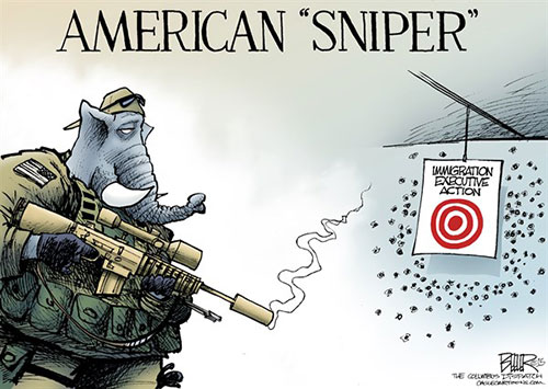 jpg Political Cartoon: GOP Sniper