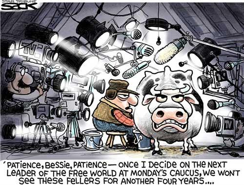 jpg Editorial Cartoon: Iowa Caucus Craziness