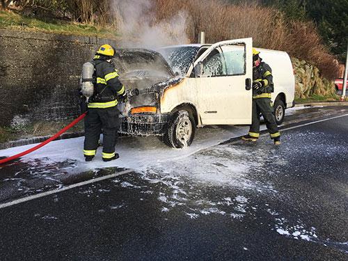 jpg No Injuries in Van Fire