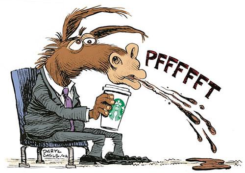 jpg Political Cartoon: Howard Schultz and Democrats