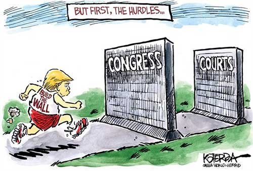 jpg Political Cartoon: But First, the Hurdles