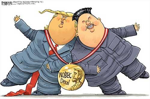 jpg Political Cartoon: Trump Kim No Deal