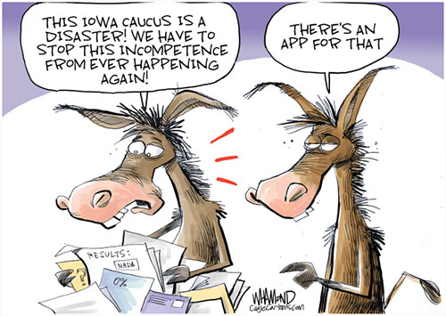 jpg Political Cartoon: Iowa State of Confusion