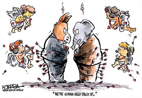 jpg Political Cartoon: Needing More Arrows