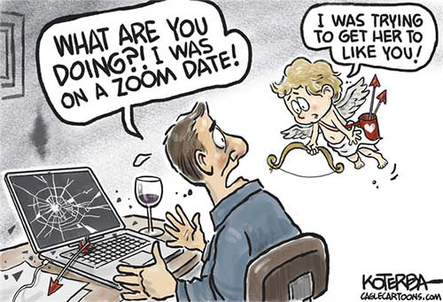 jpg Political Cartoon: Love and Dating in the age of Covid
