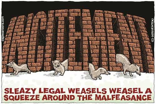 jpg Liberal Political Cartoon: Trump Legal Weasels