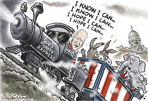 jpg Political Cartoon: Biden's Bipartisanship