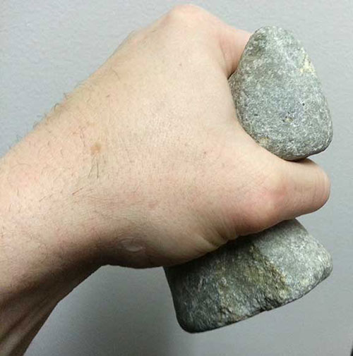 jpg This type of stone tool hammer was common in Northwest Coast Native Cultures.