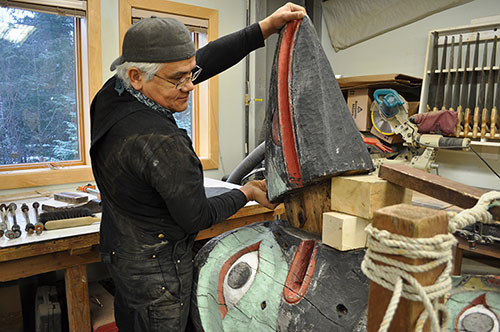 jpg Tlingit Master Carver resurrects 74-year-old totem