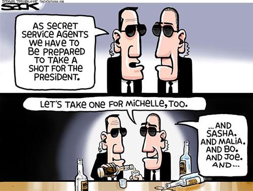 jpg Political Cartoon: Secret Service