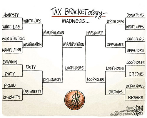 jpg Political Cartoon: Tax Bracketology