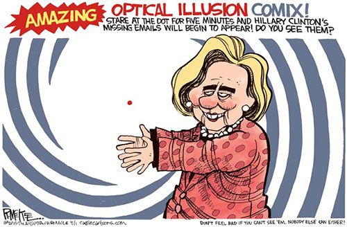 jpg Political Cartoon: Hillary's April Fools