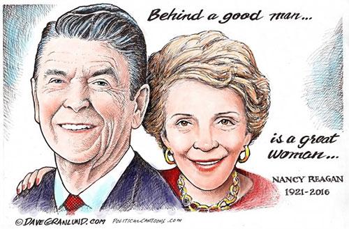 jpg Editorial Cartoon: Nancy Reagan Tribute 2016