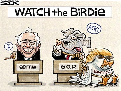 jpg Editorial Cartoon: Bernie Bird