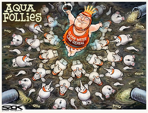 jpg Editorial Cartoon: Water Follies