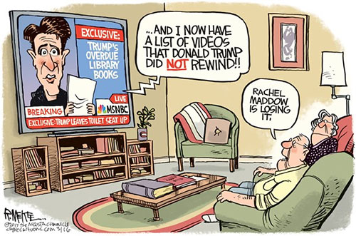jpg Political Cartoon: Maddow Loses It