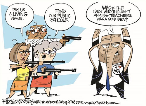 jpg Political Cartoon: Arm Teachers