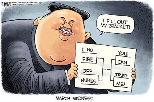jpg Political Cartoon: Kim Jong Un March Madness