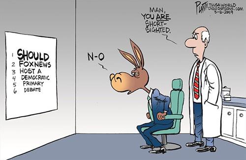 jpg Political Cartoon: FoxNews and the Debate