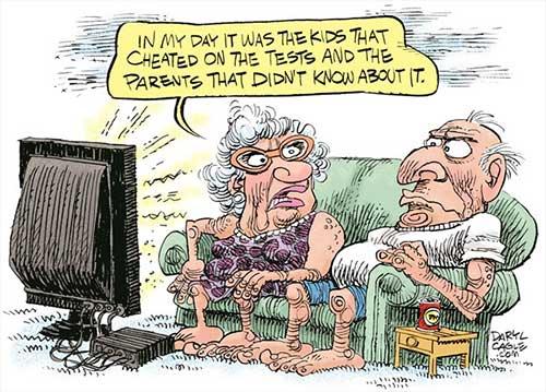 jpg Political Cartoon: Cheating on Tests