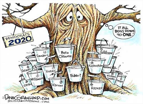 jpg Political Cartoon: 2020 Democrats running