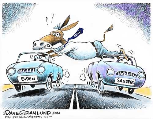 jpg Political Cartoon: Democratic dual driver
