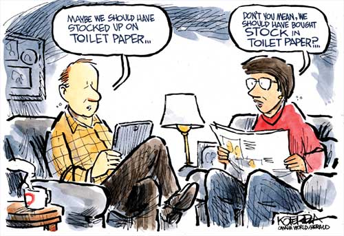 jpg Political Cartoon: Stocking up on Toilet Paper