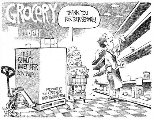 jpg Political Cartoon: Shopping chaos