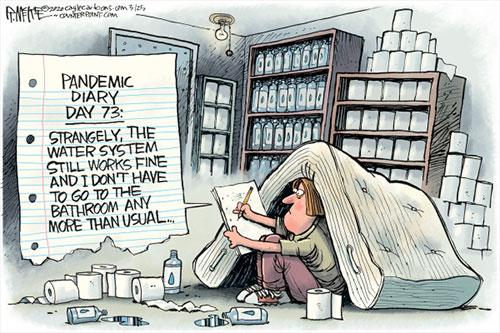 jpg Political Cartoon: Coronavirus Hoarder