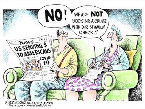 jpg Political Cartoon: Stimulus checks to Americans