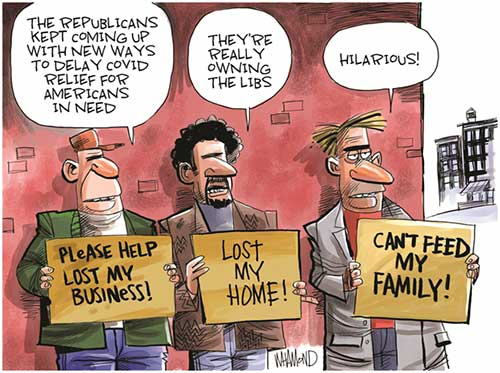 jpg Political Cartoon: Coronavirus relief bill