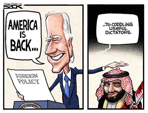 jpg Political Cartoon: Saudi Coddle
