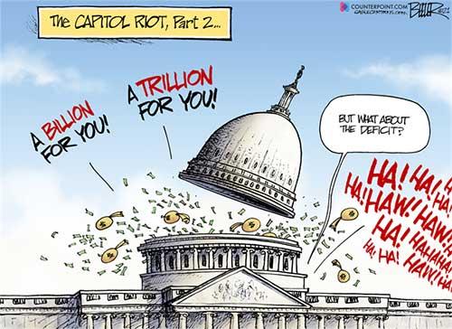 jpg Political Cartoon: Spending Riot