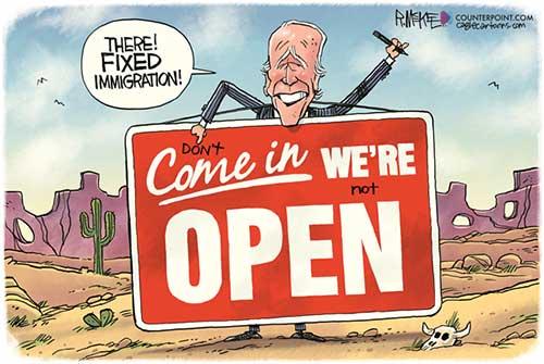 jpg Political Cartoon: Biden Fixes Immigration